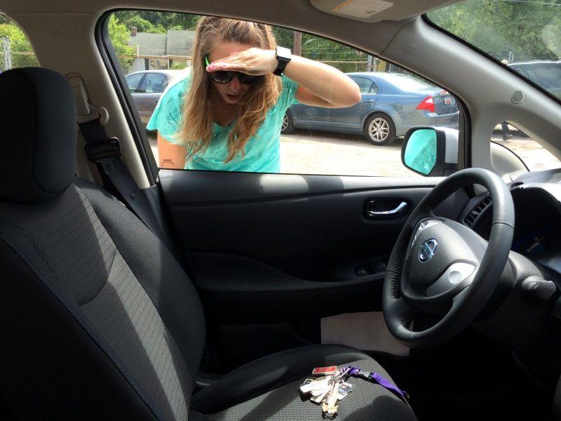 Вскрытие авто, ключи остались внутри