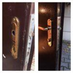Замена ручек на железной двери