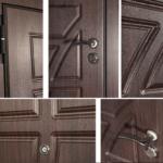 Установка панелей МДФ, новый дверной фурнитуры (ручки, глазок, накладка на замок)